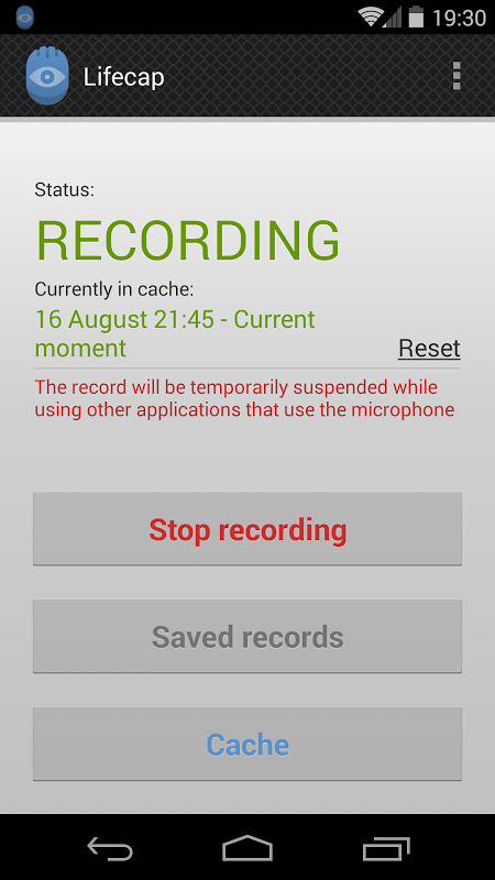 Audio recorder: Lifecap 0 8 1 APK Download by i shadrin