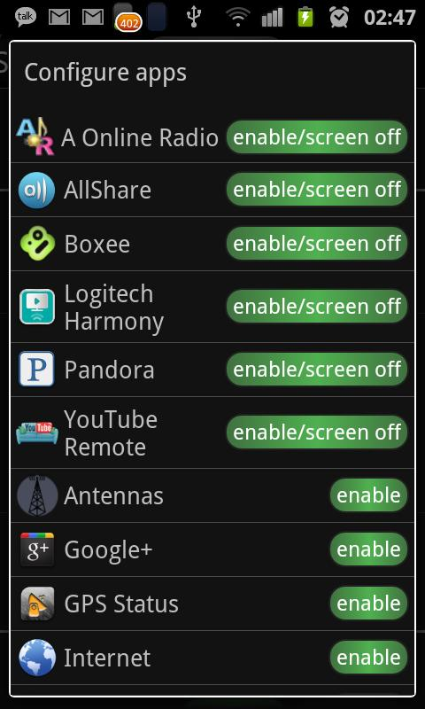 Android JuiceDefender Ultimate Screen 3