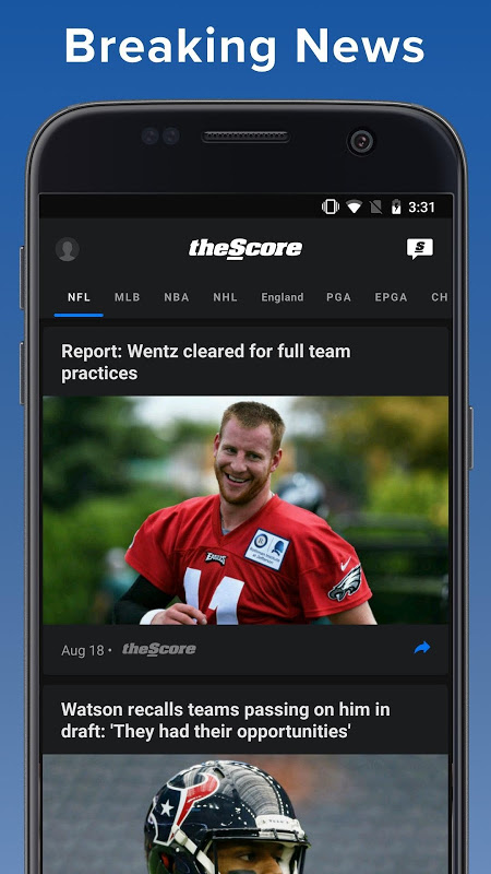 theScore: Sports & Scores 3.20.2-B Screen 2