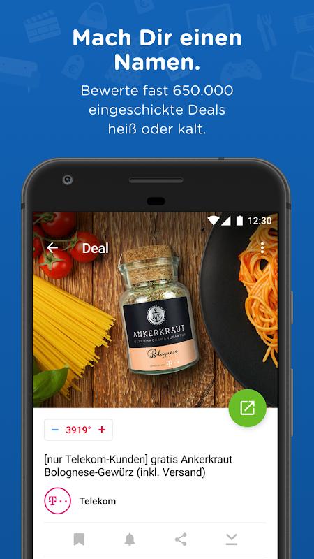 Android mydealz – Gutscheine, Schnäppchen, Angebote, Sale Screen 1