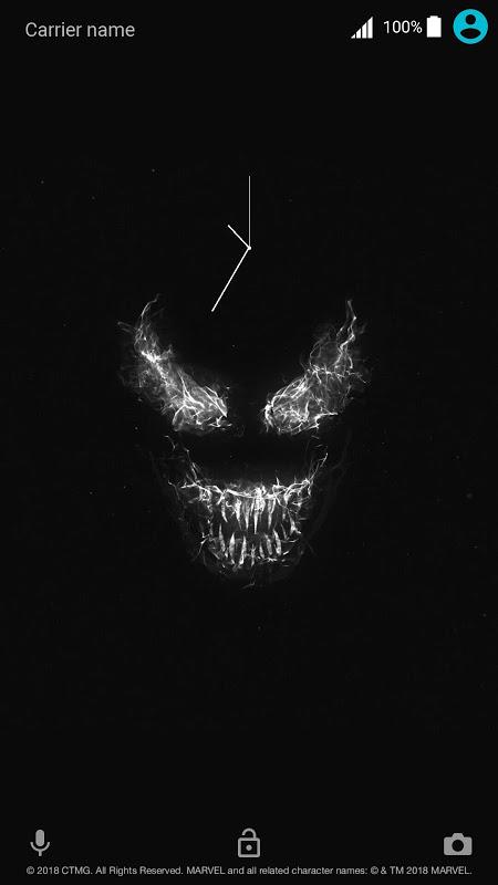 Android Xperia™ Venom Theme Screen 1