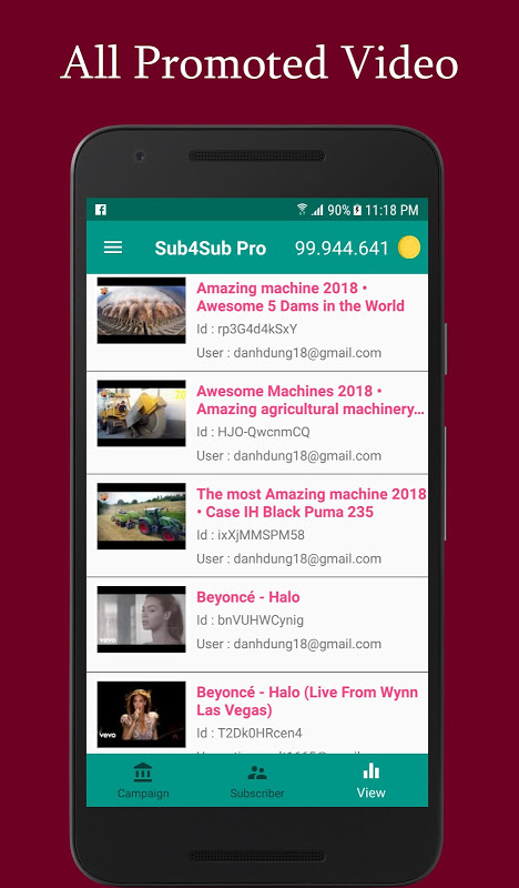 Android Sub4Sub Pro (No Ads) Screen 2