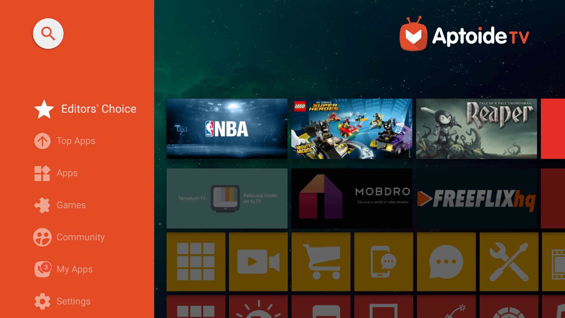 Android Aptoide TV Screen 1