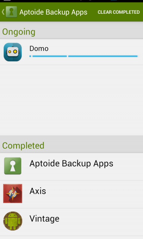Aptoide Backup Apps 2.3.1 Screen 2