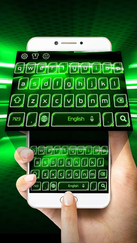 Android Green Light Keyboard Screen 3