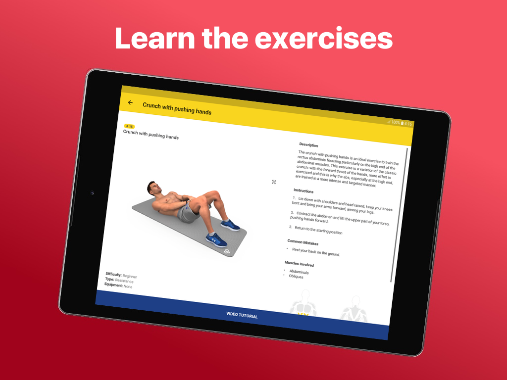 Android Abs Workout - Daily Fitness Screen 2