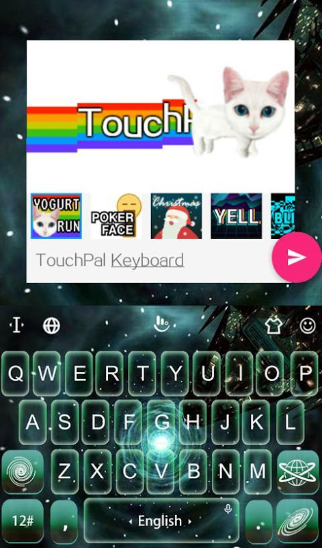 Android Interstellar Trip Keyboard Screen 5
