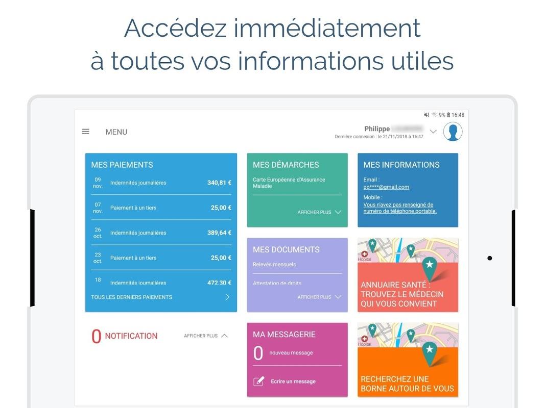 ameli, l'Assurance Maladie 12.0.1 Screen 1