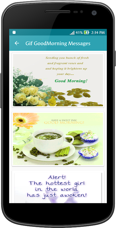 Android Gif Good Morning Messages Collection Screen 8