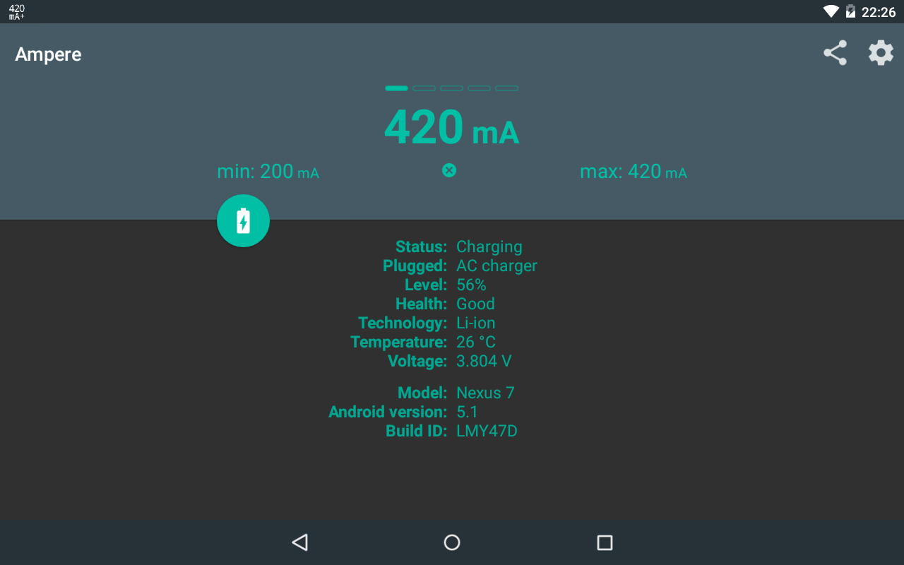 Ampere v3.20 Screen 1