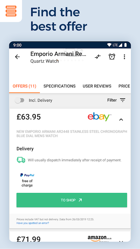 idealo - Price Comparison & Mobile Shopping App 15.3.1 Screen 11