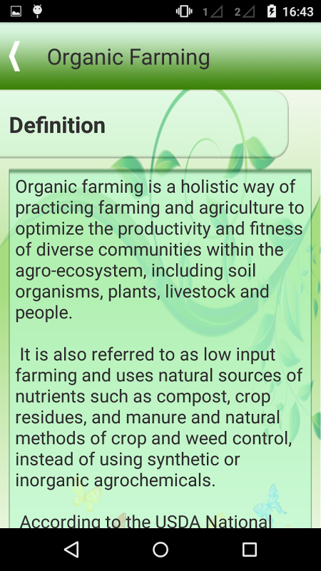organic farming college essay Read this essay on benefits of organic farming come browse our large digital warehouse of free sample essays get the knowledge you need in order to pass your classes and more.