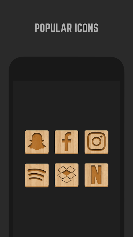 Android Wood Icon Pack Screen 3