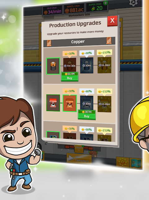 Android Idle Factory Tycoon Screen 9