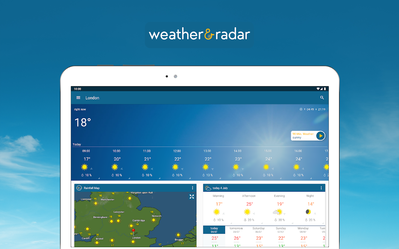 Weather & Radar UK / Ireland 2019.1.1 Screen 2