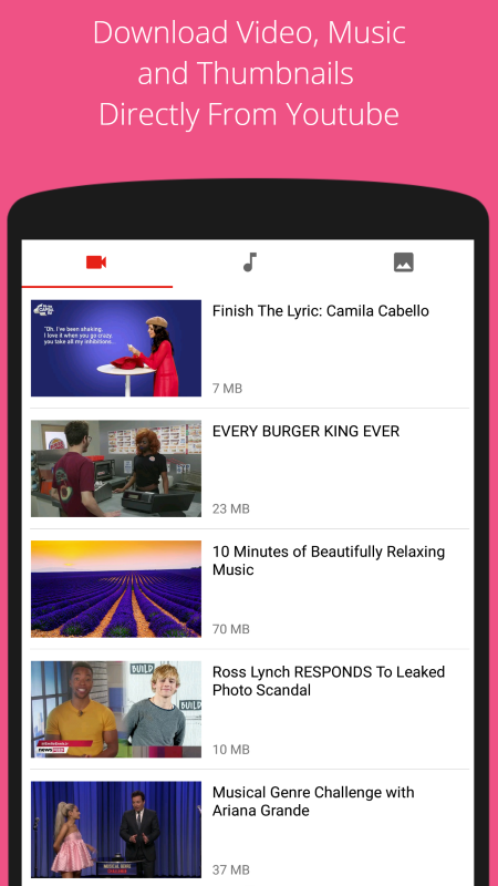 Android Youtube Download Screen 2