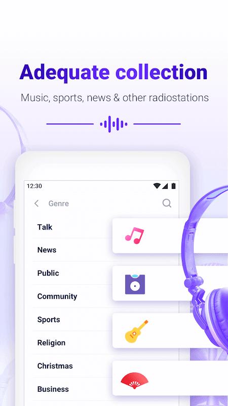 Smart Radio FM - Free Music, Internet & FM radio 1.2.8 Screen 1