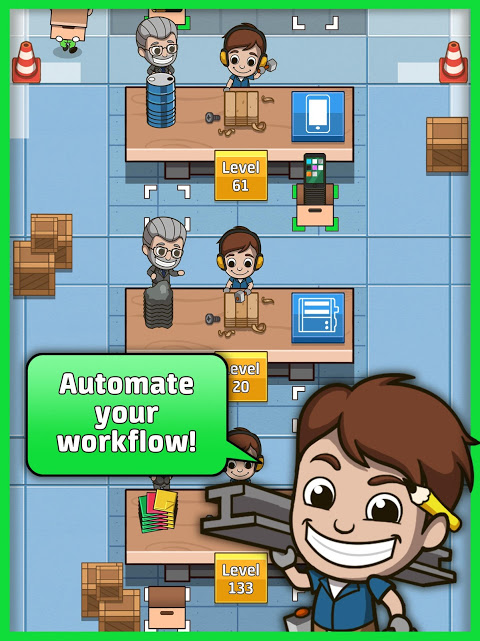 Idle Factory Tycoon 1.2.1 Screen 1