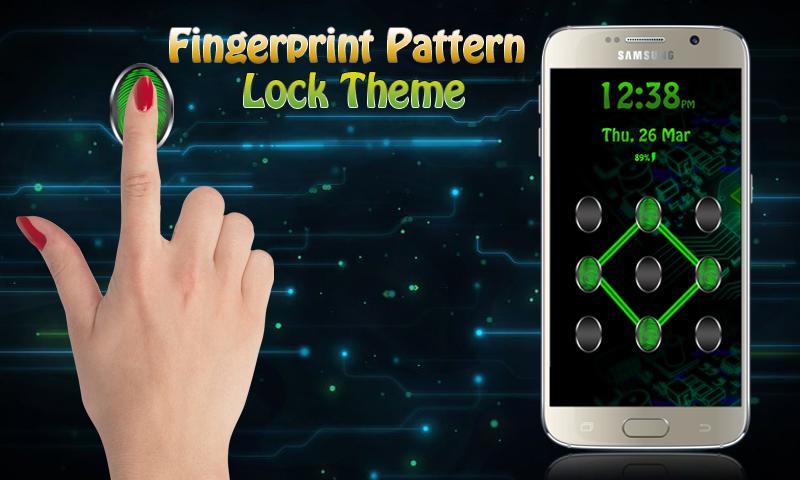 Pattern Lock Fingerprint Theme 1.0 Screen 2