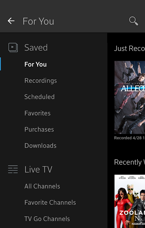 Xfinity Stream 5.1.1.001 Screen 4