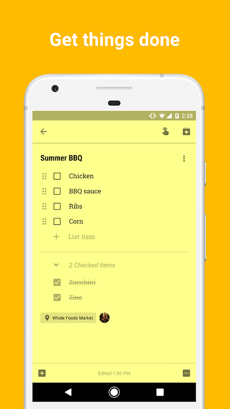 Android Google Keep Screen 5