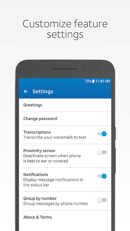 AT&T Visual Voicemail 4.3.0.0007 Screen 4