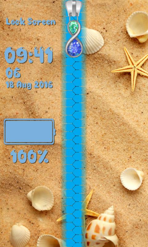 Seashells Zipper Lock Screen 1.2 Screen 5