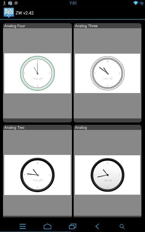 Minimal Analog - Zooper Pro 1.4 Screen 1