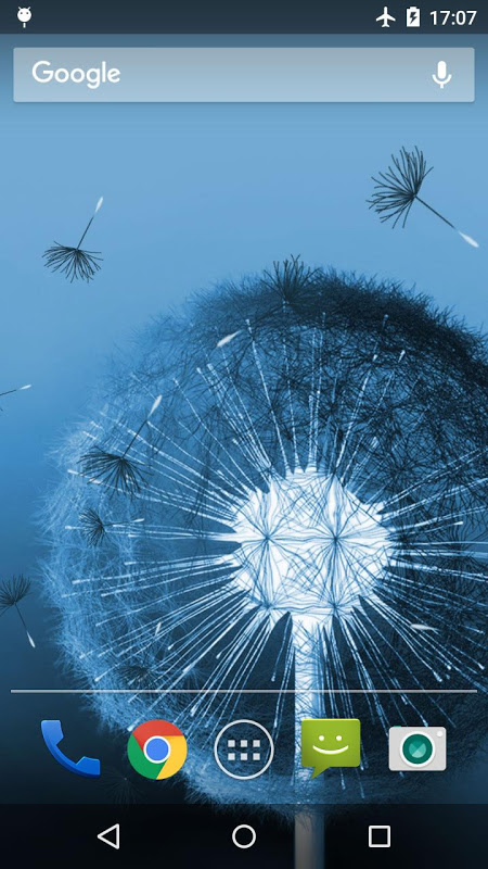 Android Dandelion Live Wallpaper Screen 3