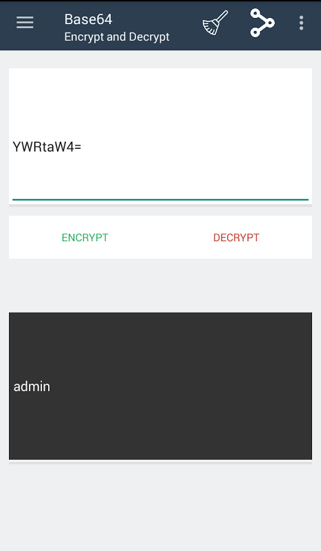 Android Encrypt Decrypt Tools Screen 1