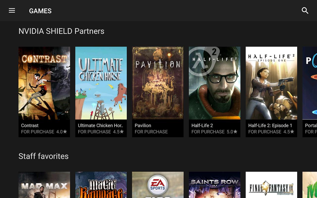 NVIDIA Games 6.0 Screen 1