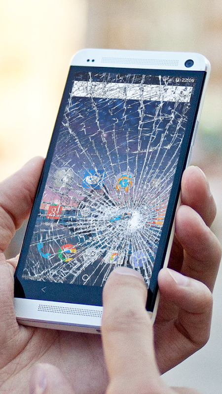 Android Cracked Screen Prank Screen 1