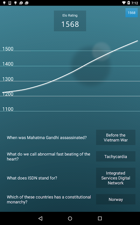 Android General Knowledge Quiz Screen 11