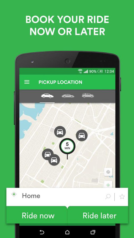 Android Careem - Car Booking App Screen 2
