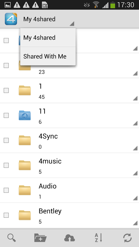 Android 4shared PRO:download any files Screen 4