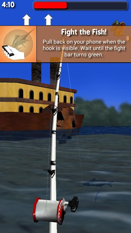 Android Big River Fishing 3D Screen 4