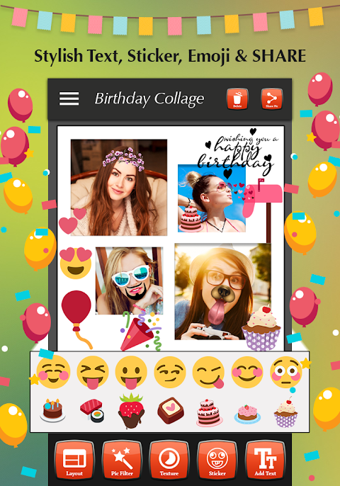 Happy Birthday Photo Collage 1.4 Screen 6