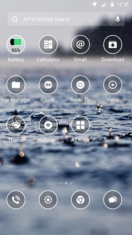 Android Simple-APUS Launcher theme Screen 1