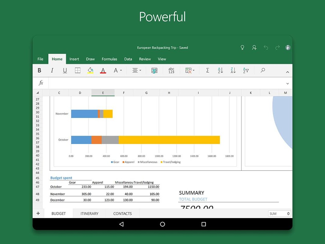 Android Microsoft Excel Screen 10