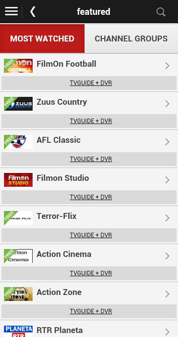 Android Watch Live TV Online Screen 4