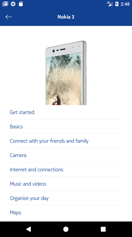 Nokia mobile support 1.3.1 Screen 1