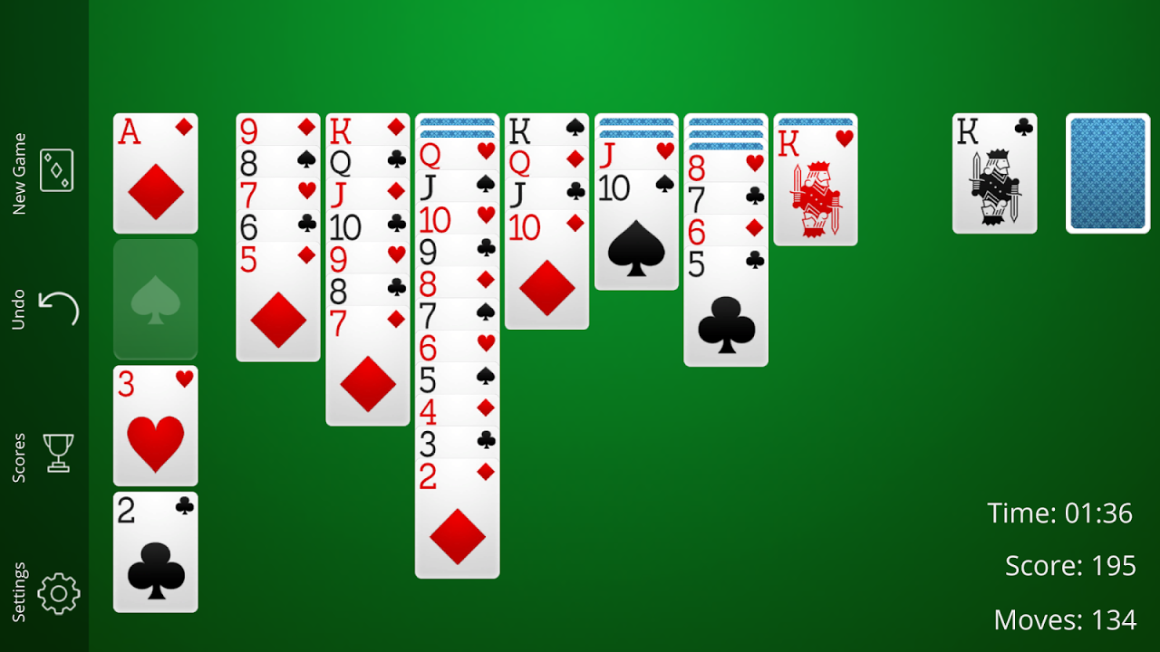 Android Solitaire Screen 5