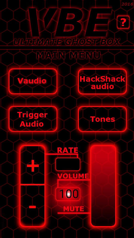 VBE ULTIMATE GHOST BOX 1.0 Screen 1