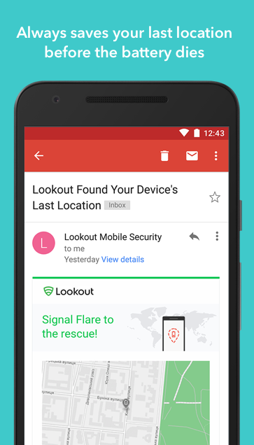 Android Lookout Security & Antivirus Screen 2