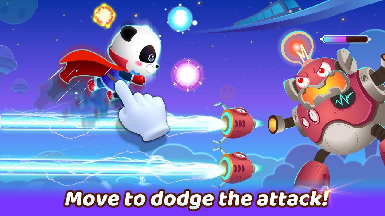Android Little Panda's Hero Battle Game Screen 2