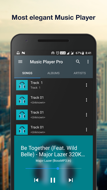 Android Music Player Pro+ Screen 3