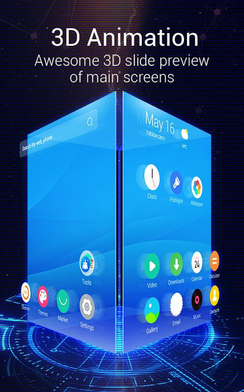 Android C Launcher 3D- Daily Update Theme, Live Wallpapers Screen 1