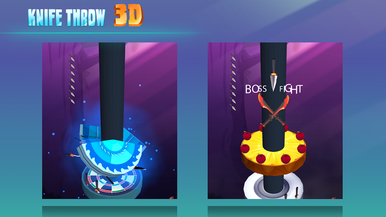 Android Knife Throw 3D Screen 4
