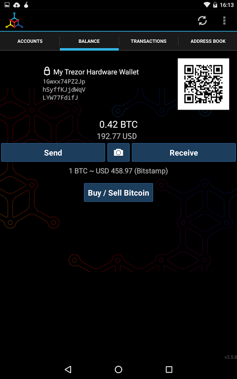 Android Mycelium Bitcoin Wallet Screen 9
