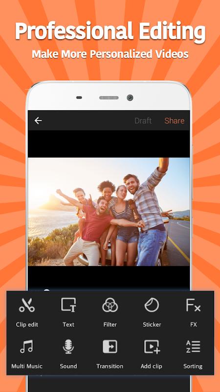 Android VivaVideo: Free Video Editor Screen 1